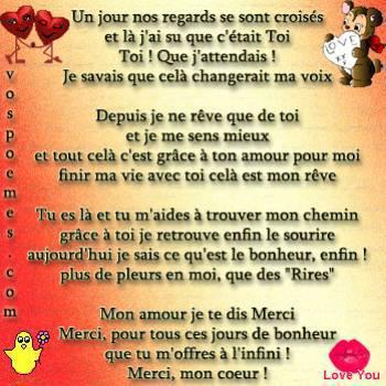 Un Poeme Pour Toi Mon Amour Tu Veux Voir Le Blog Dun