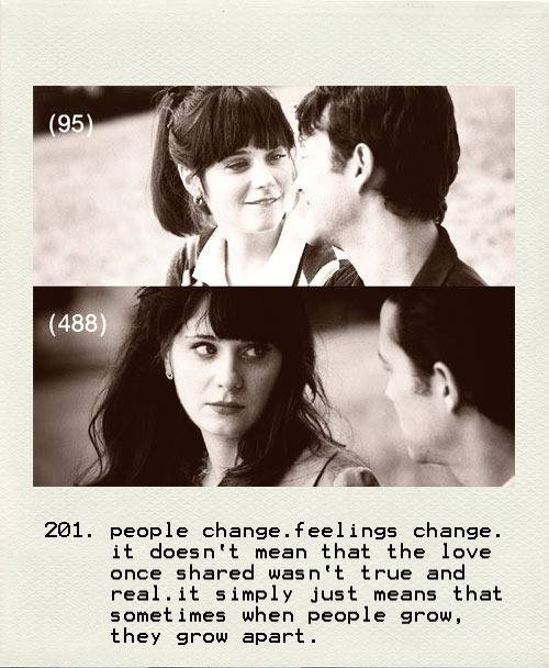 But people change too ...