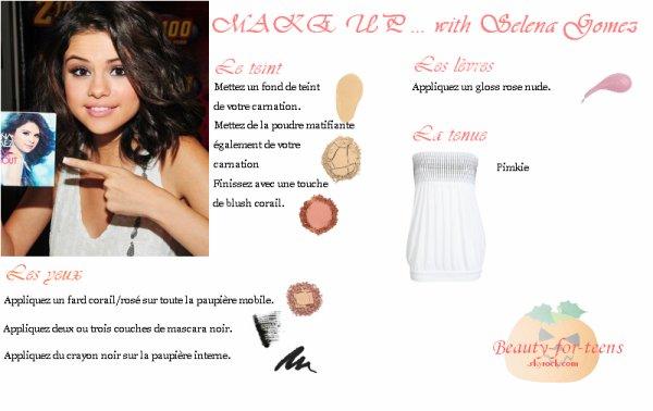 Un make up corail ... Avec Selena Gomez !