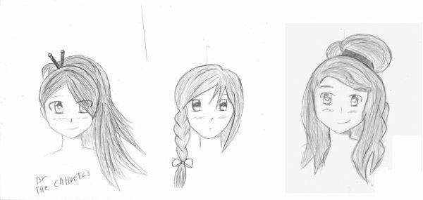 Des tests de coiffures...