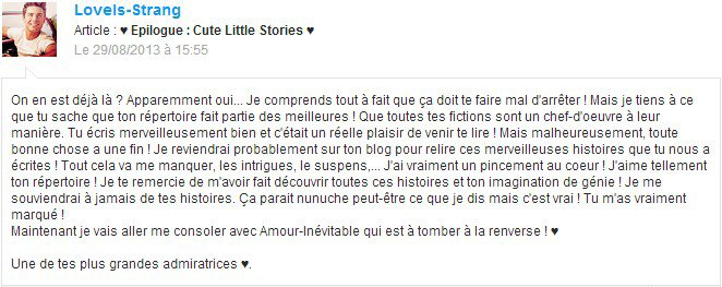♥ Epilogue : Cute Little Stories ♥