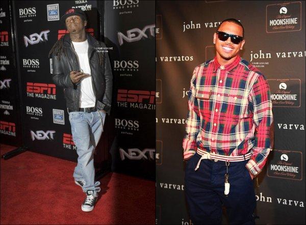 . Nouveau son  ;  Lil Wayne & Chris Brown .