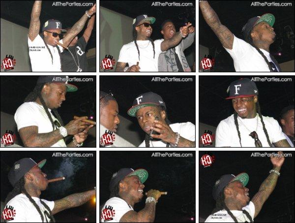 . Lil Wayne célébrant la victoire des Packers, les photos ci-dessous .
