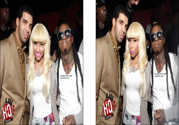 . Lil Wayne Attends All-Star Event  In Hollywood Ci-dessous, des photos de Weezy à cet évènement en compagnie de Nicki Minaj & Drake .
