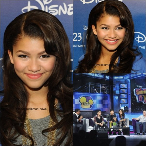 . 21/08/11 Zendaya et tout le cast de shake it up était au D23 expo ..