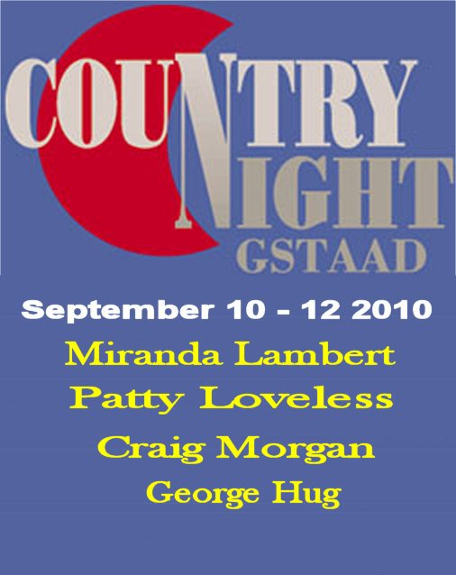 playlist  8 septembre  2010 : special Country night de Gstaad 2010