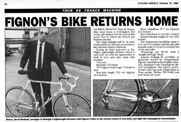 "LE "" RALEIGH "" DE LAURENT FIGNON"