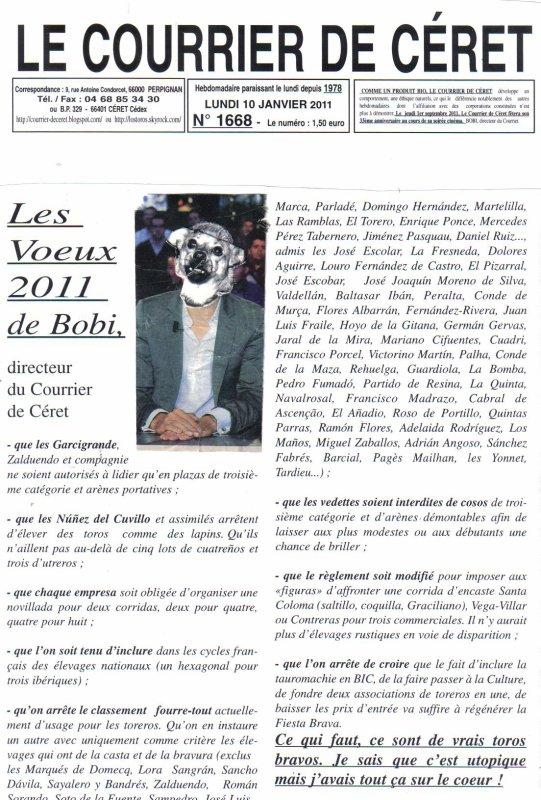 Extrait du Courrier de Céret du 10 janvier 2011 N° 1668
