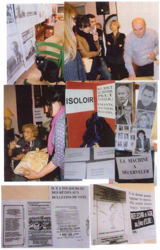Fête du Courrier (avril 2012) sur le thème des élections présidentielles
