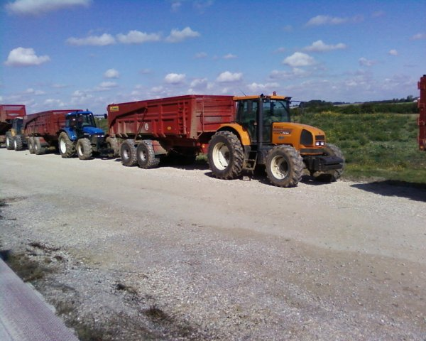 renault ares 710 avec benne legrand 18 t