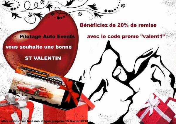 Code promo St Valentin