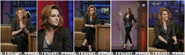 08/10/2010 : Kristen chez Jay Leno