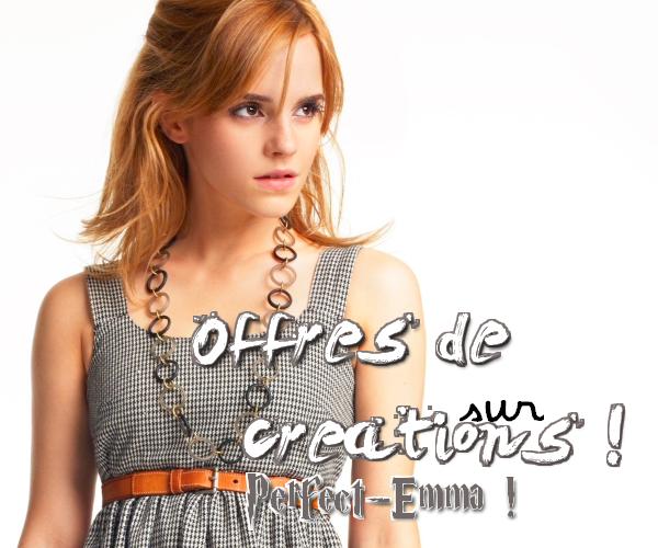 Offres de créations, bannières, icones sur Perfect-Emma !