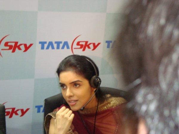 Asin Rare Pics @ TATA SKY Call center
