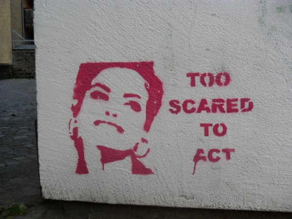 TOO SCARED TO ACT