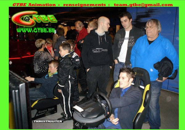 Team GTBE  Gran Turismo Belgium ( GTBE ) Animation : Animation simulateurs Vous voulez des renseignements? Cela vous intéresse? team.gtbe@gmail.com – avec Julien Schein Karting. Identifications : Gran Turismo, Thrustmaster et Thrustmaster T500 RS