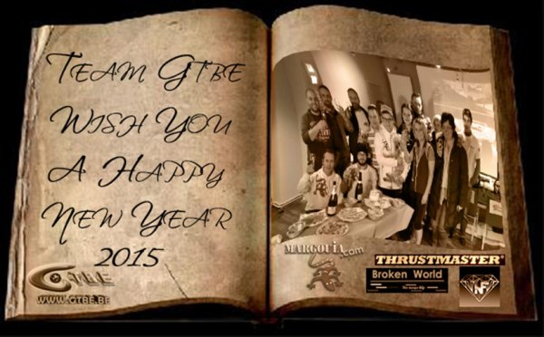Gran Turismo Belgium, Team GTBE wish you a Happy new year 2015 !