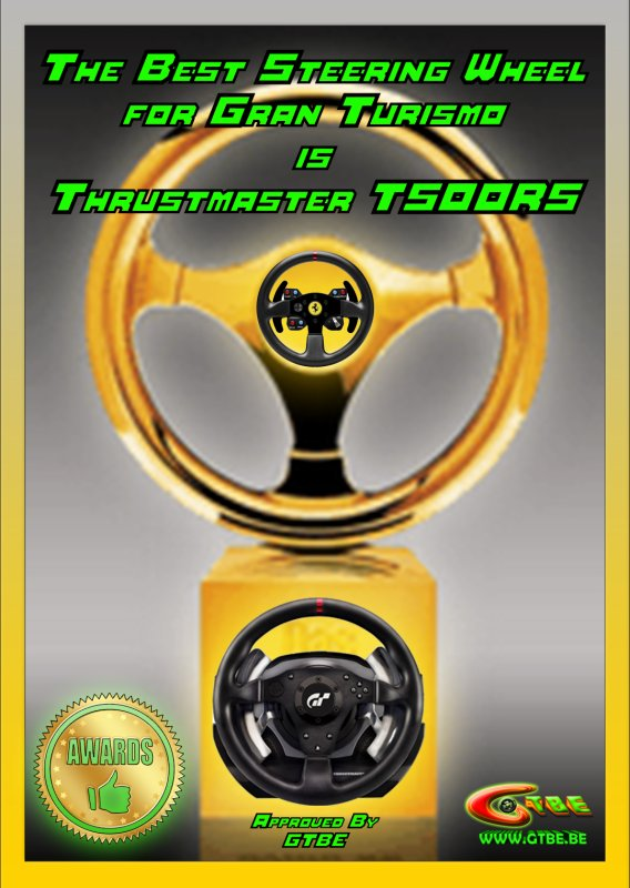 The best Steering wheel for Gran Turismo approved by GTBE