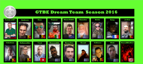 Dream Team GTBE 2016