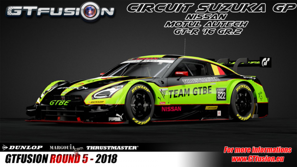 Team GTBE Livery for GTfusion Round 5 2018