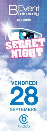 Soirée Secret Story au B Club (Belgique) le 28 septembre