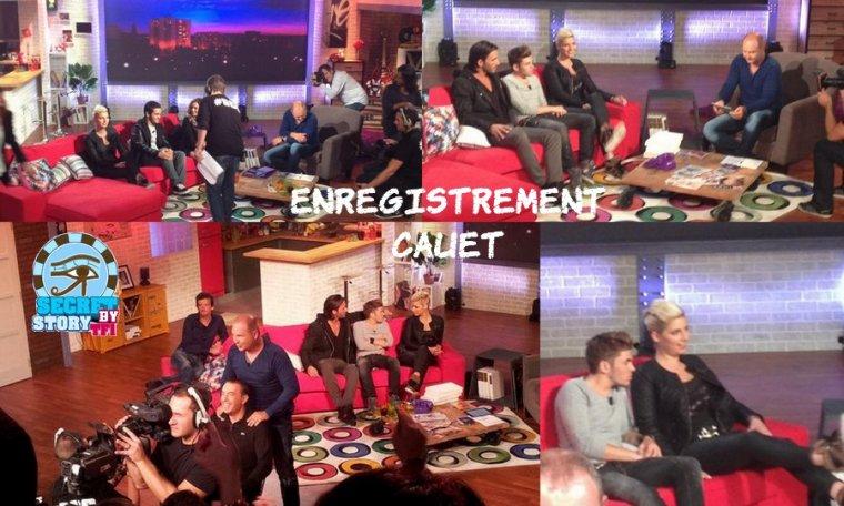 Yoann, Nadège, Thomas à l'enregistrement de l'émission de Cauet