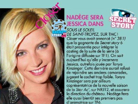 """Secret Story: Nadège Lacroix  """"Sous le soleil de St Tropez"""" c'est confirmé !"""