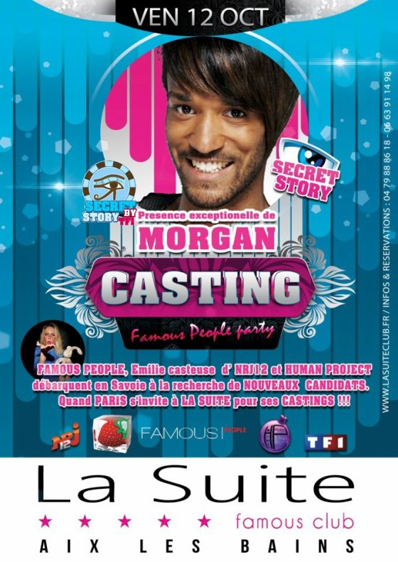 Secret Story: Morgan au Club La Suite le 12 octobre (soirée casting)