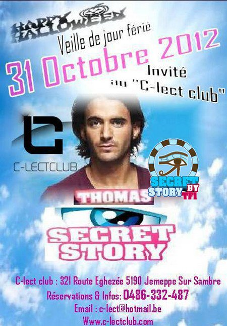 Secret story: Thomas au C-lect Club le 31 octobre