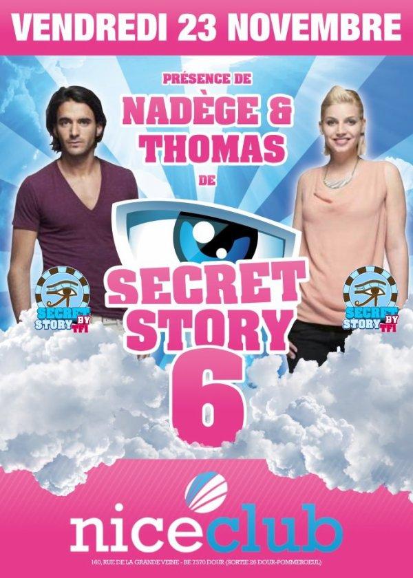 Secret story: Nadège et Thomas au Nice Club de Dour le 23 novembre