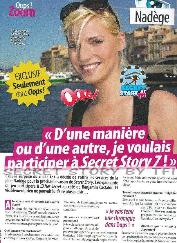 Nadège voulait participer à Secret-story 7: c'est fait !!