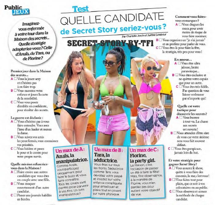 Test : A quelle candidate de Secret story ressemblez-vous?