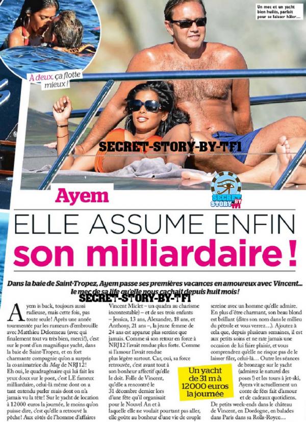 Ayem: A Saint-Tropez et en couple !