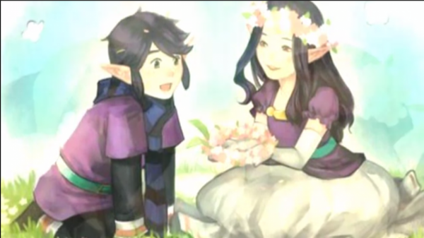 Vio et Hilda (legend of Zelda Link between two worlds)