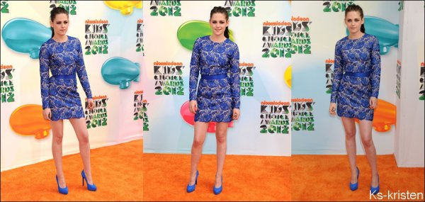 31.03.12 : Kris était présente au Kids Choice Awards 2012 à Los Angeles.