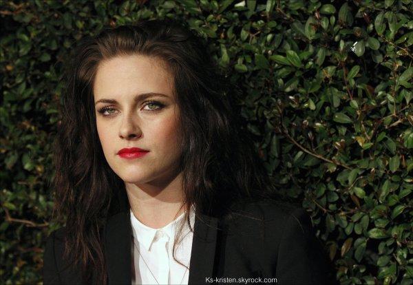 """APPARITON :13.04.12 : Kristen était présente à la soirée privée d'avant première pour le clip """"My valentine"""" de Paul McCartney."""