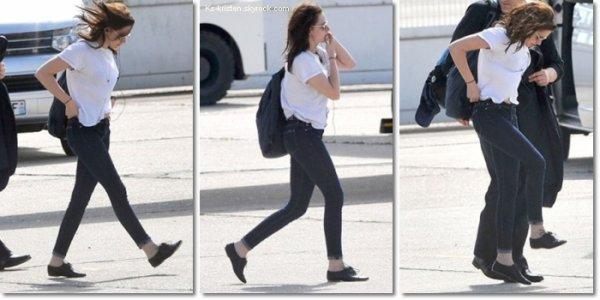 08.05.12 : Kris quitte son hôtel de New York pour se rendre à Pairs.