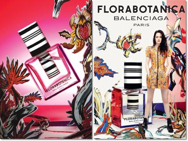 Publicité pour le parfum de Balenciaga.