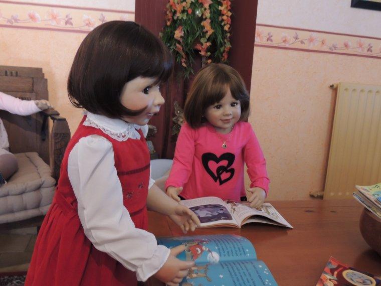 le coin lecture avec les filles