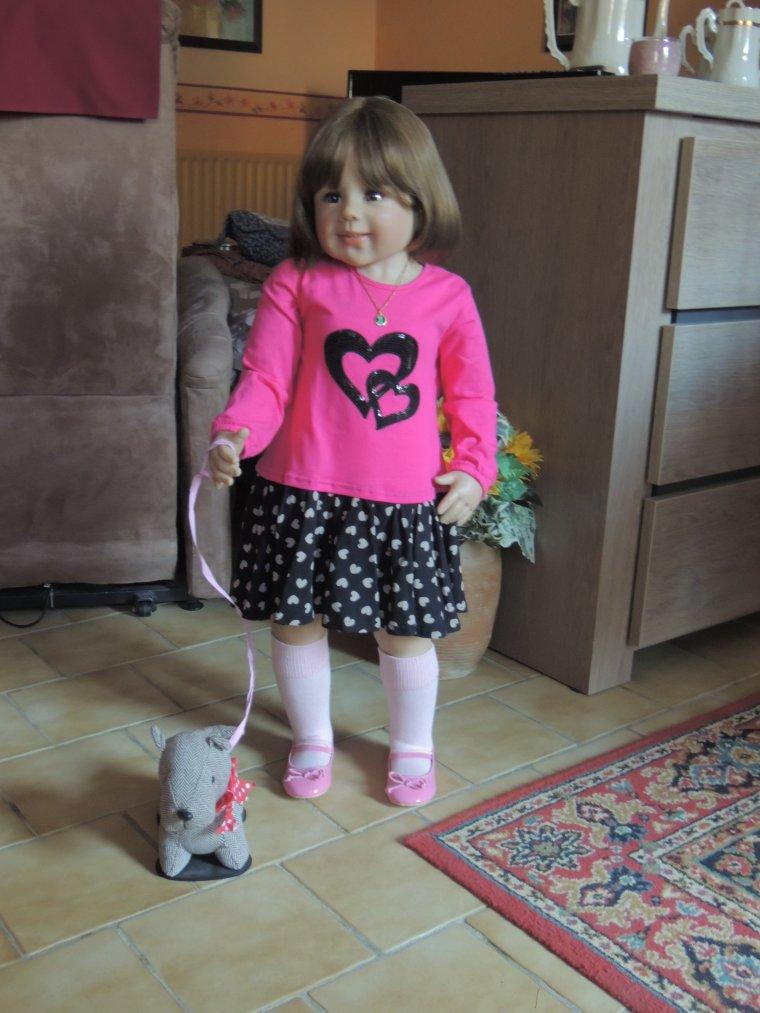prune et son petit chien