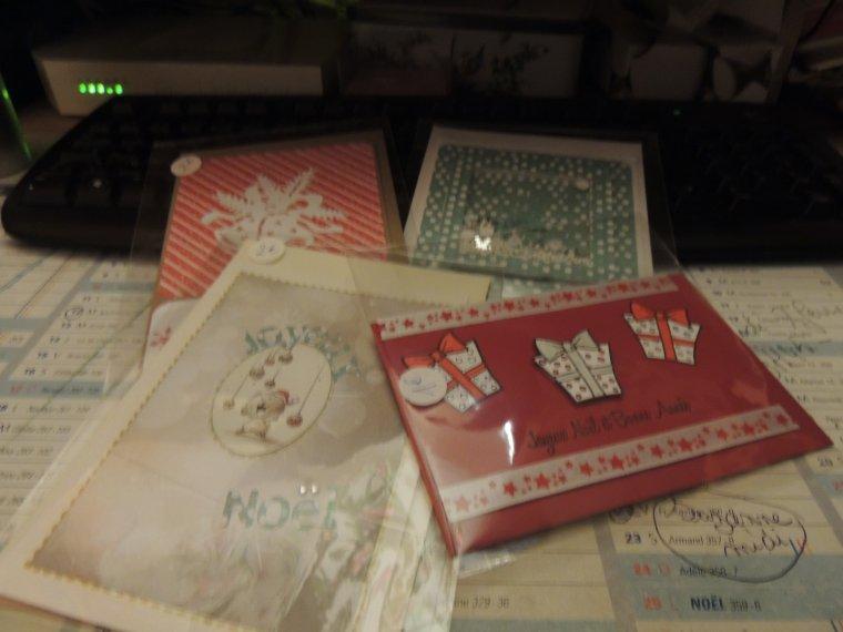 les cartes sont parties....j en ai deja reçu !!!! yen aura d autres  à partir!!!