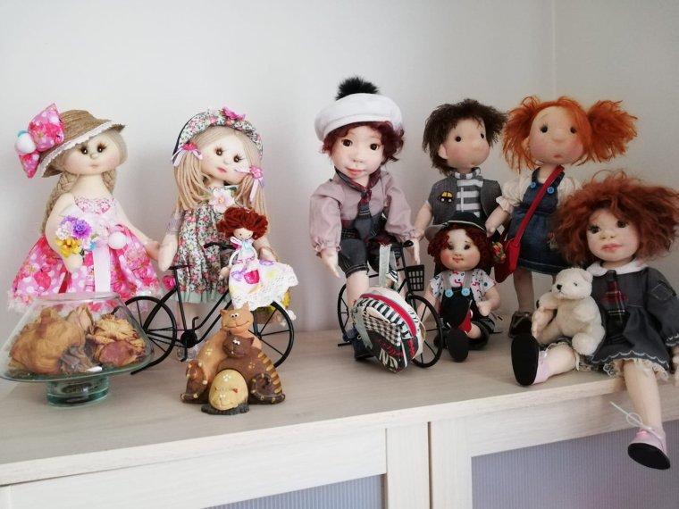 les poupées de chiffons de ma soeur Chantal faites par Rosa guerra