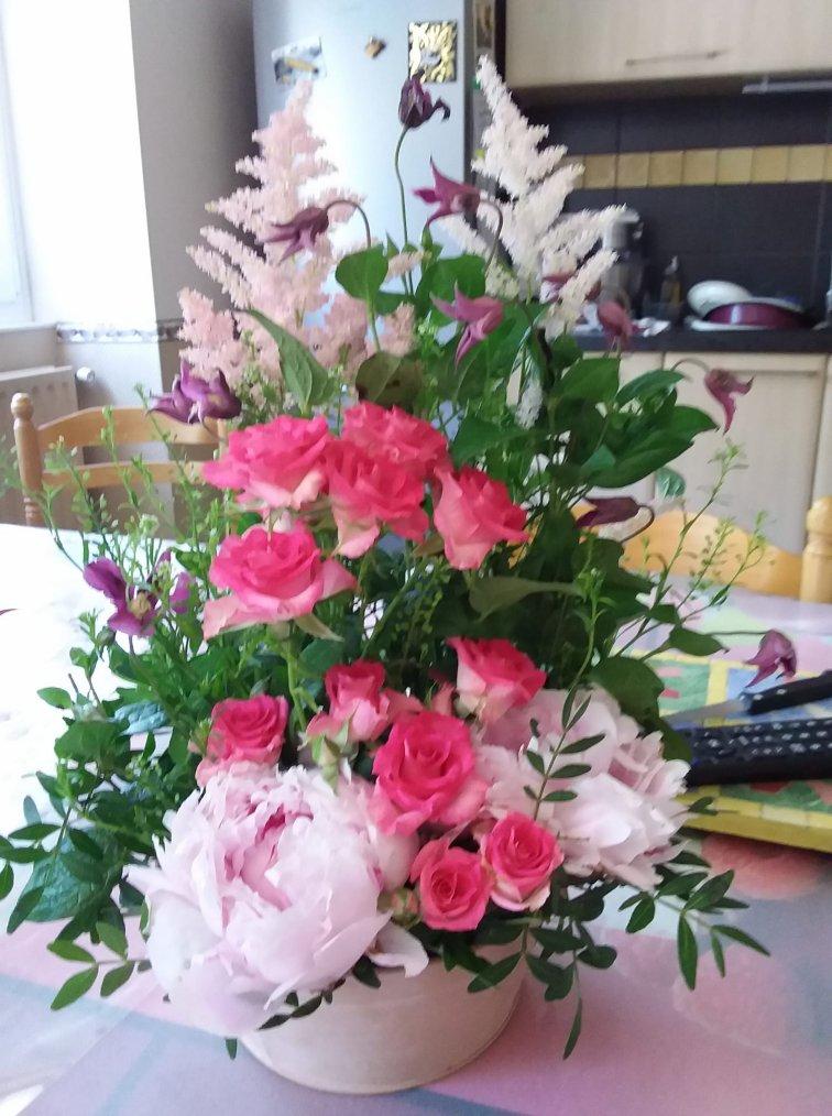 les fleurs envoyés par mon fiston