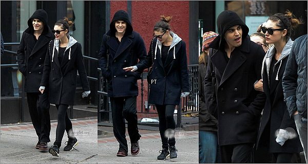 ------ 23/11/2013- Phoebe et Paul sortant du Soho