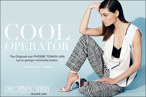 """------Shoot- Découvrez un nouveau shoot de Phoebe pour le magazine """"Who What Wear""""!"""