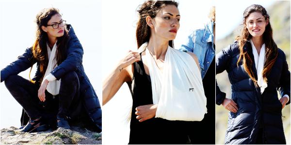 """------17/06/2014- Phoebe était de nouveau sur le tournage de """"Take Down"""""""