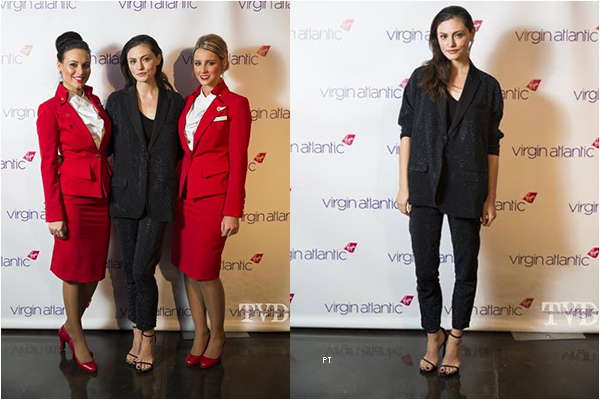 ------ 24/10/14 -Phoebe était au Virgin atlantic atlanta 787 lauch party...
