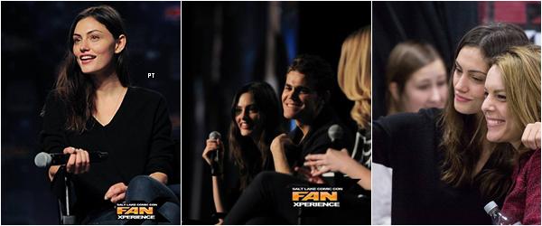 ------ 31/01/2015-Des photos de la conférence Salt Lake Comicon sont apparues. On la retouve avec son boyfriend: Paul Wesley...