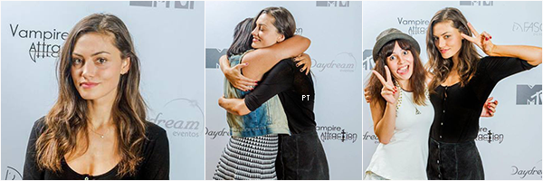 "------ 02-03/05/15-Phoebe avec des fans à la convention ""Vampire Attraction"" à Rio..."