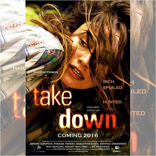 """• TAKE DOWN - Découvrez le poster de Phoebe pour son dernier film """"Take Down"""""""